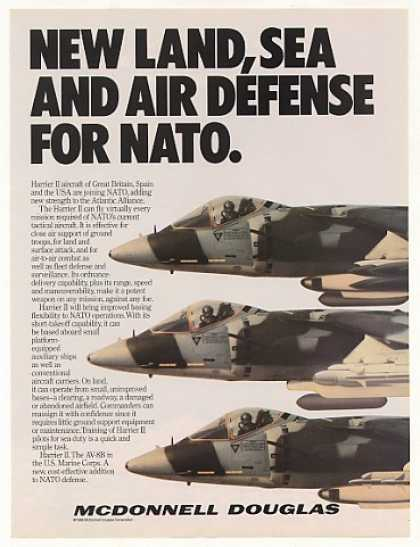 Harrier II Aircraft Join NATO McDonnell Douglas (1986)