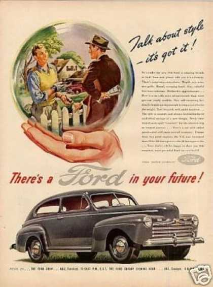 "Ford Car Ad ""Talk About Style... (1946)"