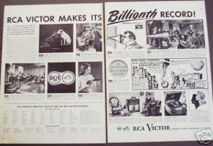 Rca Victor Makes 1 Billion Records 1898- (1946)