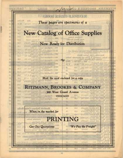 Ritzmann, Brookes & Co.'s Office supplies – New Catalog of Office Supplies