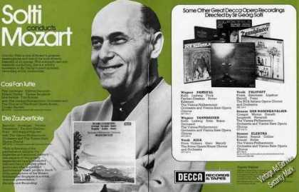 Sir Georg Solti Photo Decca Mozart Music Uk (1974)