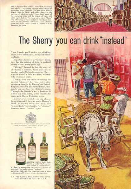 Harveys Bristol Cream Sherry Art Grapes (1959)