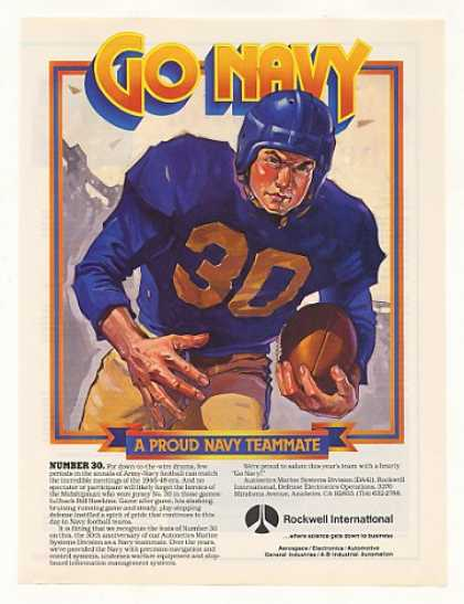 Navy Football #30 Bill Hawkins Rockwell (1985)