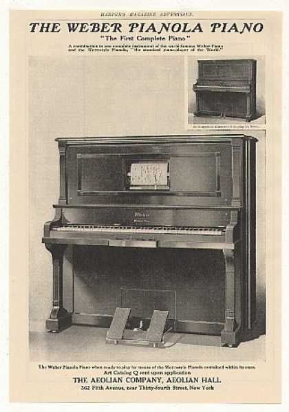 Aeolian Weber Pianola Piano Photo (1905)