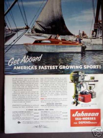 Johnson Sea-horse 25 Outboard Boat Motor Photo (1954)