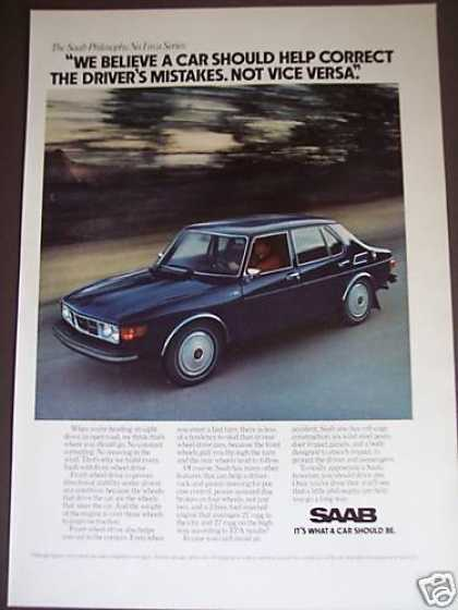 Saab Philosophy Ad #1 Car Photo (1976)