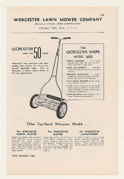 Worcester Shear Model 600 Lawn Mower (1948)