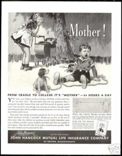 John Hancock Insurance Cradle To College (1938)