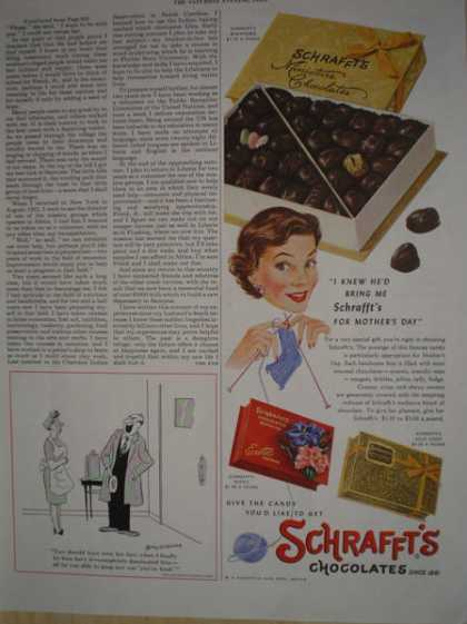 Schrafft's Chocolates Mothers Day theme (1955)