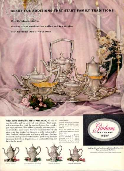 Gorham Sterling Silver Coffee Tea Set (1952)