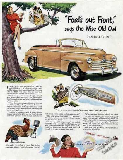 "Tan Ford Convertible Large ""Old Owl"" (1947)"