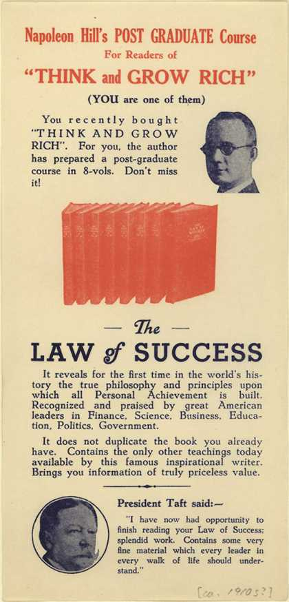 Napoleon Hill's Post-Graduate Course's The Law of Success – Napoleon Hill's...Think and Grow Rich