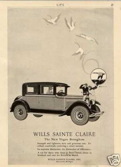 Wills Sainte Claire Vogue Brougham Car (1926)
