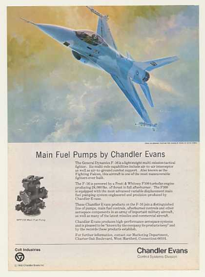 F-16 Aircraft Keith Ferris art Chandler Evans (1983)