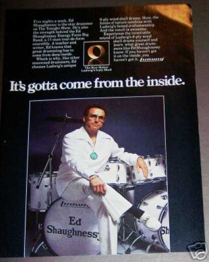 Ed Shaughnessy Photo Ludwig Drums (1980)