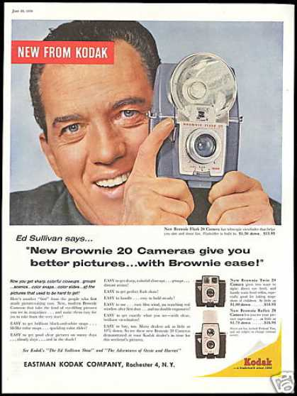 Ed Sullivan Photo Kodak Brownie Camera (1959)