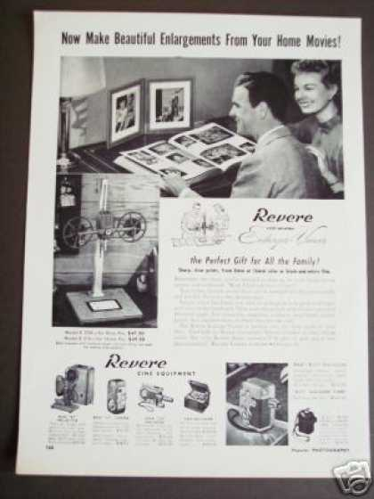 Original Revere Photo Enlarger Viewer Camera (1950)