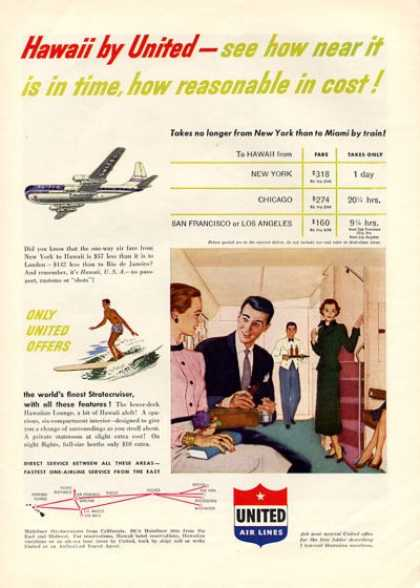 United Airlines Hawaii First Class (1951)