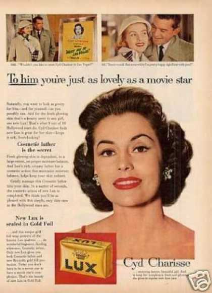 Lux Soap Ad Cyd Charisse (1956)