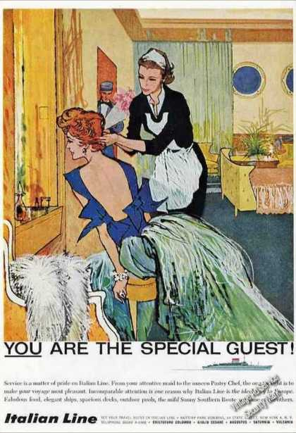 "Italian Line ""You Are the Special Guest"" Travel (1959)"