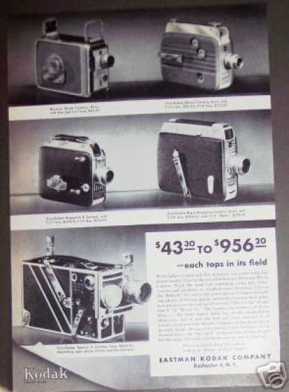Kodak Movie Camera 5 Models (1952)