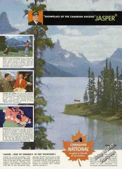 Maligne Lake Photo Jasper Canadian National Rr (1950)