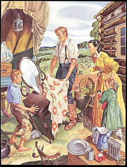 Libbey Owens Glass Co Pioneers Covered Wagon (1948)