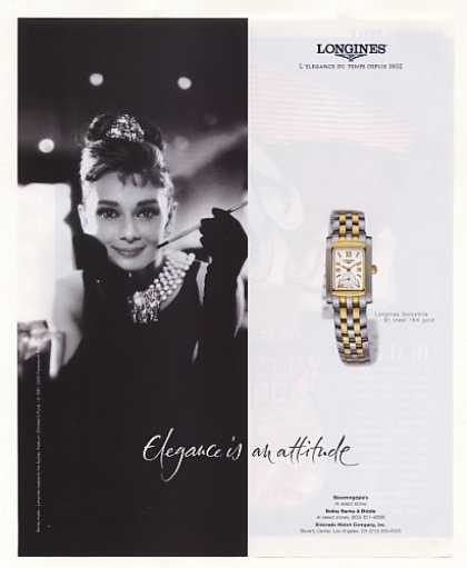 Longines DolceVita Watch Audrey Hepburn Photo (2001)