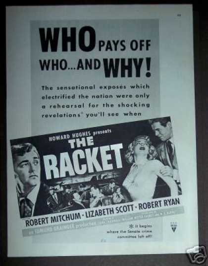 'the Racket' Robert Mitchum Movie Promo (1951)