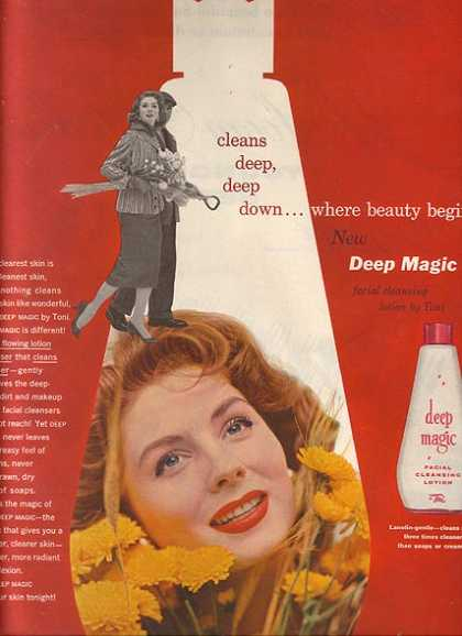 Toni's Deep Magic Facial Cleansing Lotion (1955)