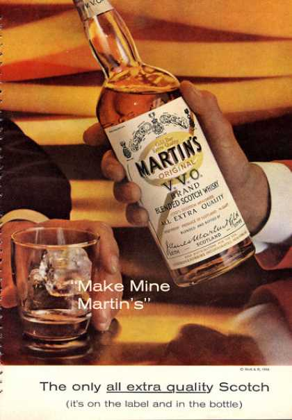 Martin's Scotch Whisky Bottle (1962)