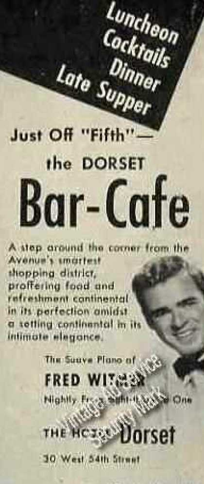 Fred Witmer Photo Hotel Dorset Bar-cafe Nyc (1947)