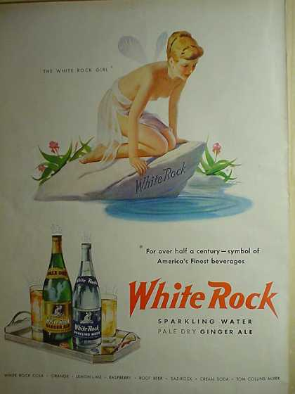 White Rock Sparkling Water Ginger Ale Fairy theme (1950)