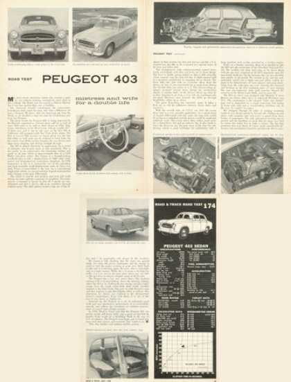 Road Test Peugeot 403 Print Article (1958)