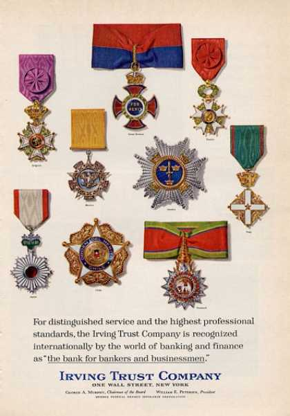 Irving Trust Company Merit Awards (1965)