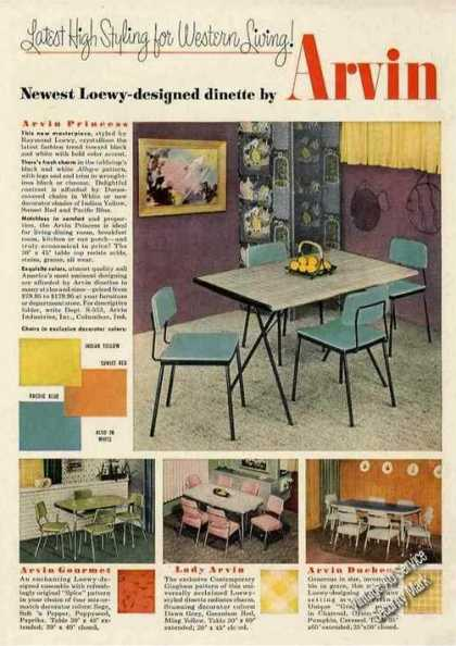 Raymond Loewy Designed Dinette By Arvin (1953)