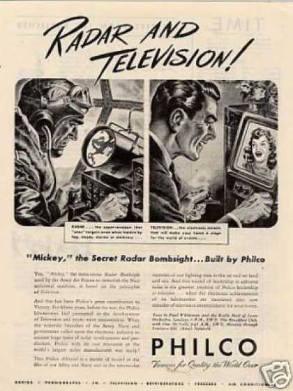 "Philco Ad ""Radar and Television... (1945)"