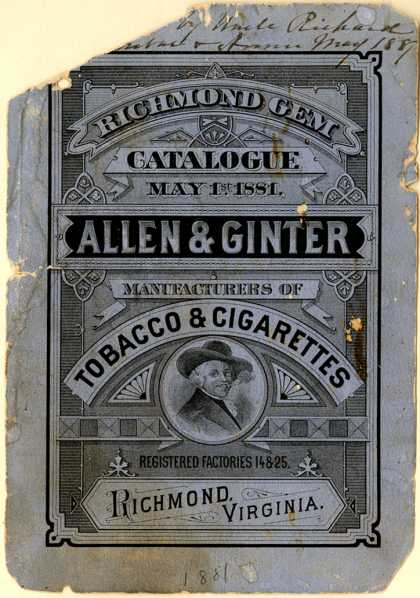 Allen & Ginter – Richmond Gem Catalogue (1881)