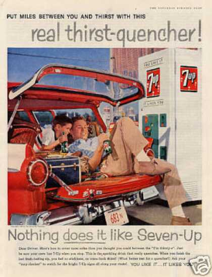 "Seven-up Ad ""Put Miles Between You... (1958)"