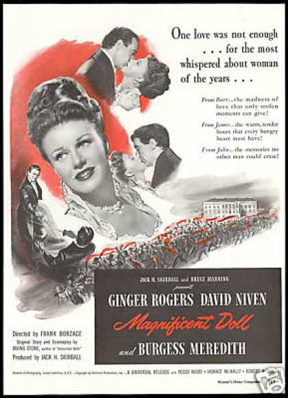 Ginger Rogers Photo Magnificent Doll Movie (1946)