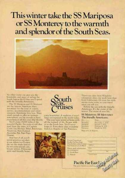 Ss Mariposa or Ss Monterey South Sea Cruises (1974)