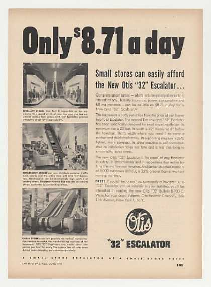Otis 32 Escalator for Small Retail Stores (1948)