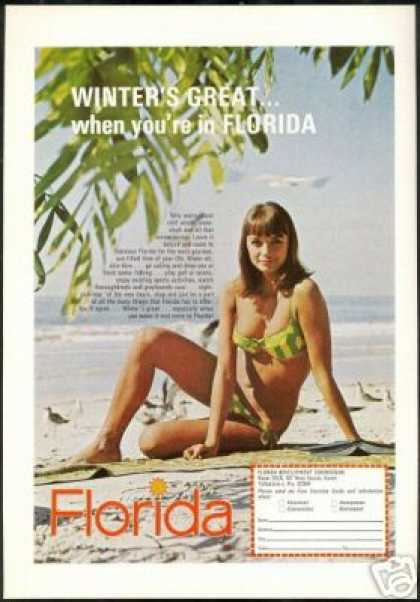 Pretty Woman Swimsuit Photo Florida Travel (1969)