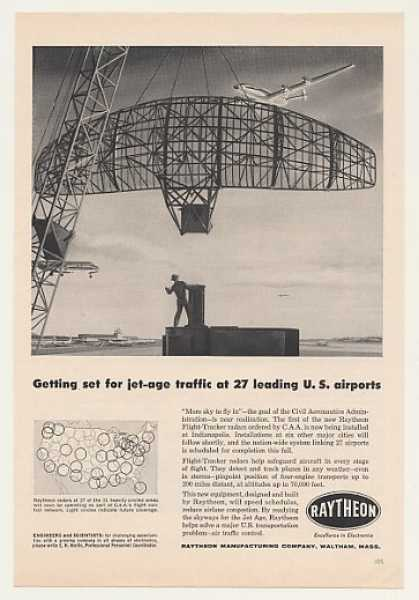 Raytheon Flight-Tracker Radar Indy Airport (1958)