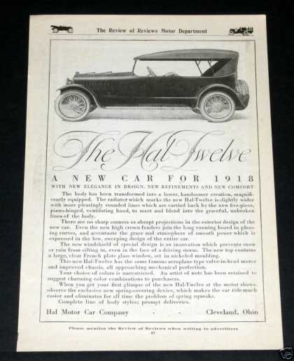 "New ""Hal Twelve"" Motor Car (1918)"