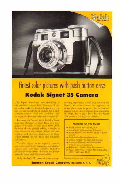 Kodak Signet 35 Camera – Push Button Ease (1954)