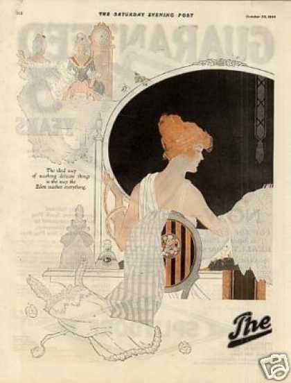 Eden Washing Machine Color Ad 2 Page (1920)