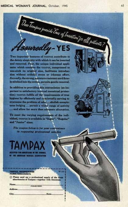 Tampax's Tampons – Assuredly YES (1945)