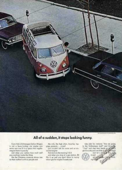 Vw Volkswagen Station Wagon Parking Collectible (1964)