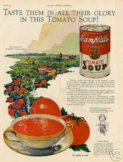 "Campbell's Tomato Soup Ad ""Taste Them... (1925)"